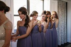 graue Plissee Kleider Brautjungfern