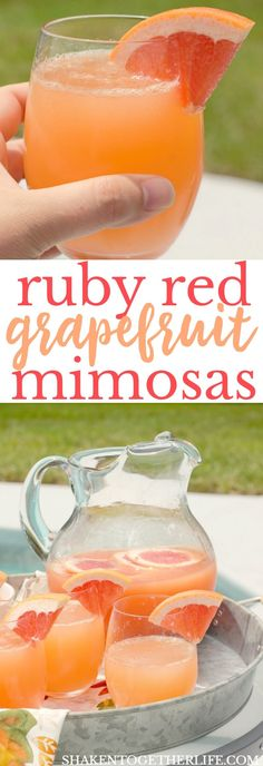 With just 2 ingredients, these Ruby Red Grapefruit Mimosas will be the life of every pool party, girls day and brunch! #sponsored #RiondoProsecco #ItalianForsummer #NationalProseccoDay #riondococktail