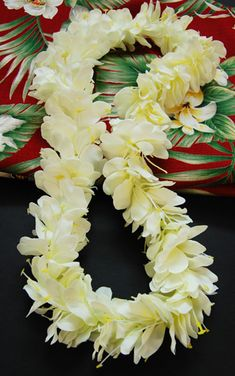 Beautiful white ginger lei... ahhhh, I can smell it now. Refreshing...like a mountain breeze.
