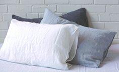 basix pillow, $59 each, linen, from Hale Mercantile