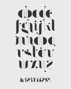 90 Beautiful Typography Alphabet Designs (Part www. ,The Power of Beautiful Typography, Alphabet Design, Fonte Alphabet, Hand Lettering Alphabet, Typography Letters, Typography Poster, Fun Fonts Alphabet, Art Deco Typography, Letter Designs, Phonetic Alphabet