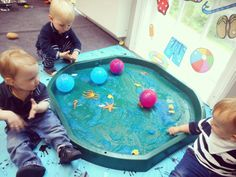 This week Cranberries have been using the Jelly Bath as an Ocean. We have found lots of different fish swimming around and we have also thoroughly enjoyed rolling the balls through the Ocean to create a variety of marks. There was mixed reviews from the children regarding the unusual texture, however we all enjoyed utilising our senses to explore it.