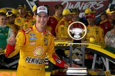 All of Joey Logano's Sprint Cup Series victories:   Sunday, June 12, 2016  -     Holding off Jeff Gordon for another win, Joey Logano scored his second victory of 2014 at Richmond. Logano led just 46 of the 400 total laps run. The race came down to a final restart, where Logano spun his tires, but was able to recover and take the checkered flag.