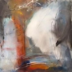 I love the light in this abstract painting. For me it feels like I can walk into the canvas and dive into the painting. I see it as if I am looking out of a cave in the rocks into the landscape which is surrounded with light. It remembers me of the rocks at the Danish island Bornholm which I carry deep in my heart, since I have had so many wonderful hours there. Price: 18.000