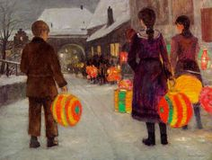 Lantern Parade - Anne Sophie Petersen (Danish, 1845-1910)