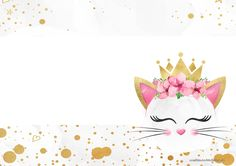 Cat Birthday, Birthday Party Themes, Birthday Invitations, Kitten Party, Cat Party, Cricut Creations, Card Tags, Baby Decor, Holidays And Events