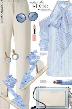 Gingham+&+stripes+ from anne-irene  - trendme.net