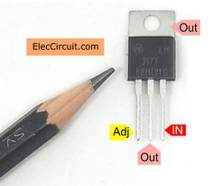 See pinout to build variable DC power supply, output and adjust to Learn circuit calculator. And, See example circuits. Simple Electronics, Electronics Basics, Electronics Components, Simple Electronic Circuits, Voltage Controlled Oscillator, Voltage Divider, Function Generator, Electronic Circuit Projects, Electrolytic Capacitor