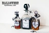 DIY Apothecary jar labels + a chance to win a Silhouette CAMEO! #halloween #craft