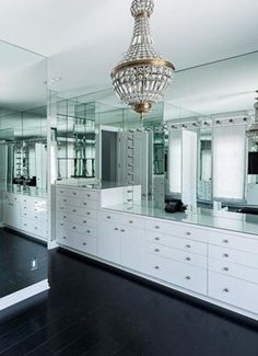 Take a look at Kylie Jenner's epic room of mirrors in the her newly revamped master sweet.