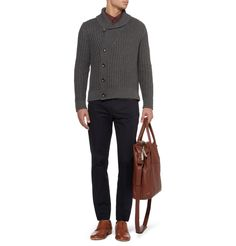 Maison Martin Margiela Chunky Cotton and Wool-Blend Cardigan | MR PORTER