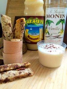 Cookies sticks, milkshake banane-coco. Des produits jetables élégants dont la verrine plastique bodega. http://www.laboutiquedujetable.fr/verrine-plastique/337-verrine-bodega.html