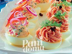 Jajka faszerowane dwoma pastami