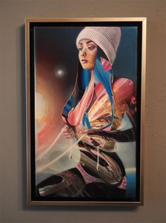 """Woman, ride my Unicorn"" | acrylics on canvas | 25cm x 42cm | 2015"