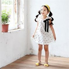 Buy 'J-KIDS – Sleeveless Bow-Front Polka Dot Dress' with Free International Shipping at YesStyle.com. Browse and shop for thousands of Asian fashion items from South Korea and more!