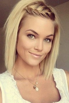 10 Beautiful Easy Hairstyles on Short Hair 10 Belles Coiffures Faciles sur Cheveux Courts hairstyles-easy-on-hair short 5 Source by Up Hairstyles, Pretty Hairstyles, Braided Hairstyles, Hairstyles For Short Hair Easy, Amazing Hairstyles, Braids For Short Hair, Short Hair Cuts, Bob Braids, Curling Short Hair