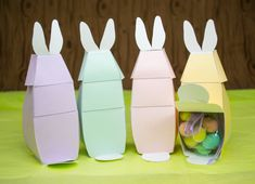 DIY Printable Easter Bunny Gift Boxes Easter by LittleLuxuriesLoft