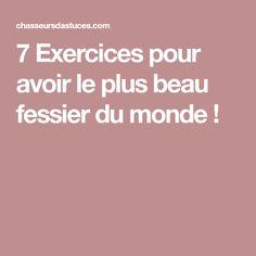 7 Exercices pour avoir le plus beau fessier du monde !