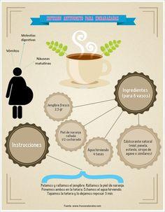 ¿Como calmar las nauseas en el embarazo? #embarazo #infografia #remediosnaturales