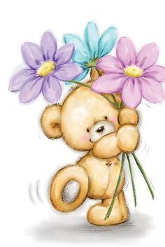 Teddy Bear Drawing, Teddy Bear Cartoon, Cute Teddy Bears, Teddy Bear Doodle, Baby Animal Drawings, Cute Bear Drawings, Teddy Bear Sketch, Baby Motiv, Teddy Bear Pictures