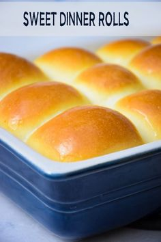 homemade sweets These Sweet Dinner Rolls have a fluffy and light texture and are melt in your mouth delicious! Buttery and flaky, your family will request these rolls every single holiday meal! (At least Grumpy does! Dinner Rolls Easy, Sweet Dinner Rolls, Dinner Rolls Recipe, Fluffy Dinner Rolls, Yeast Bread Recipes, Bread Machine Recipes, Baking Recipes, Homemade Dinner Rolls, Homemade Sweets