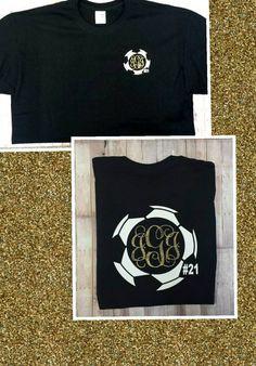 Personalized Soccer T-Shirt. Soccer Mom shirt. by DDandDesigns