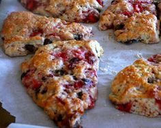 Strawberry Chocolate Chip Scones | OAMC by Once A Month Meals | Freezer Cooking | Freezer Meals