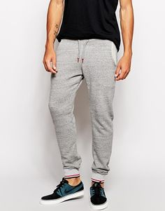 ASOS Skinny Sweatpants With Contrast Tipping