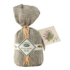 Naturally Irish: Heather  Moss Bath Salts  Price : $9.80 Rich green moss and the purple flowers of wild heather create quite a combination... the aroma is fresh and revitalising. Made with sea salts, these are the ideal antidote for a stressed mind and body? Add a heaped tablespoonful to your bath and enjoy! Our bag is made from pure linen, a great exfoliator! http://www.biddymurphy.com/Naturally-Irish-Heather-Moss-Salts/dp/B0064O60YG