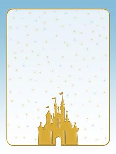 "Cinderella Castle - Gold Castle - Project Life Journal Card - Scrapbooking ~~~~~~~~~ Size: 3x4"" @ 300 dpi. This card is **Personal use only - NOT for sale/resale** Castle belongs to Disney. *** Click through to photobucket for more versions of this card ***"