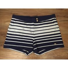 Tommy Hilfiger shorts Navy blue and white horizontal stripe shorts with pockets. Very comfortable! ✖️no trades ✖️ Tommy Hilfiger Shorts