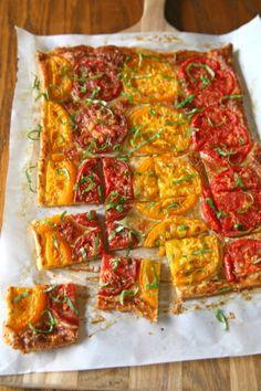 Heirloom Tomato Tart | BourbonAndHoney.com