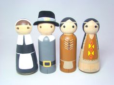 Giving Thanks Wood Peg People/Dolls