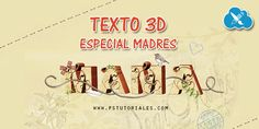 Texto 3D (especial madres) con Photoshop | PS Tutoriales