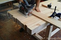 A Solid and Cheap Workbench: 10 Steps (with Pictures) Workbench Plans Diy, Building A Workbench, Workbench Designs, Workbench Top, Woodworking Bench Plans, Fine Woodworking, Woodworking Crafts, Octagon Picnic Table, 2x4 Wood