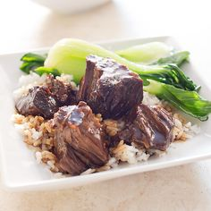 Cook's Illustrated Chinese Braised Beef.  Simple.  Delicious.  I used the alternative suggested cut, cross-cut shank.  Cooking time is a while, but actual prep low.