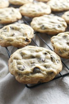 Bakery Style Chocolate Chip Cookies/ Bake 350 degrees. 4-5 mins turn pan 4-5 more mins. Really liked this recipe.