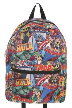 Captain America Backpack Youth School Rucksack Book Bag Casual ...