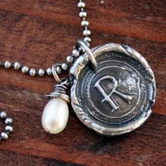 Waxing Poetic Style Old World Seal Necklace by ricciworthdesigns, $42.00