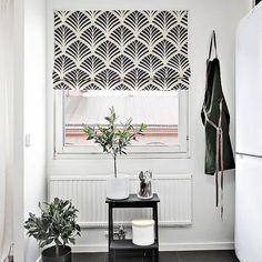Quick Fix Washable Roman Window Shades Flat Fold , Ginkgo