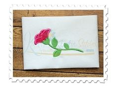 Rose Single Applique - 3 Sizes! | What's New | Machine Embroidery Designs | SWAKembroidery.com Katelyn's Kreative Stitches