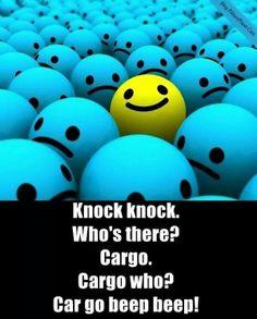 Knock knock joke. :)