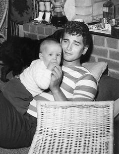 Michael-Landon-RARE-PHOTO-Michael-and-baby-son
