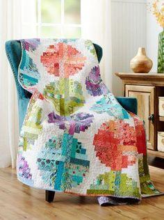 Log Cabin Beads from Quilt Sampler Spring/Summer 2014 by designer Kathy Hamada
