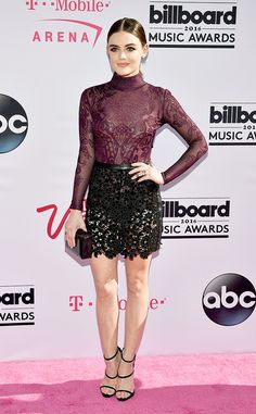 Lucy Hale in Zuhair Murad and Giuseppe Zanotti shoes - Billboard Music Awards 2016 Red Carpet Arrivals - May 22, 2016