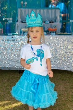 """Frozen Birthday Party Custom Crown """"I designed this crown for this amazing party styled by @Madelyn Retana by a Princess Parties in Style and the gorgeous photography by @Maria Healey"""" Thank you @Shawna Brockmeier !!"""