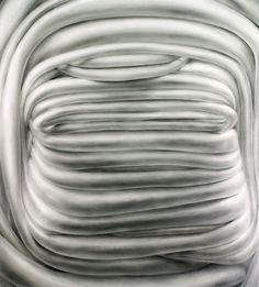 "Munter, powdered graphite on mylar, 40"" x 36"", 2010"
