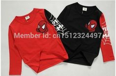 Hot sale New 2015 Kids Baby Girls Boys Spiderman Hero T shirt long Sleeve kids Tops, cotton children's tops-in T-Shirts from Mother & Kids on Aliexpress.com | Alibaba Group