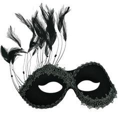 Black Persuasion Masquerade Mask