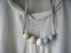 Delphine - Handmade Clay Bead Necklace. $35.00, via Etsy.